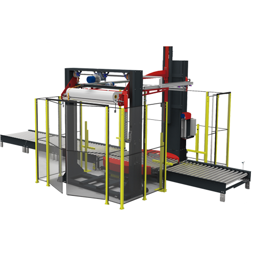 Sistema de enfardado en línea TRM1500 con vallado y sistema de aplicación de cubierta superior TDM1800