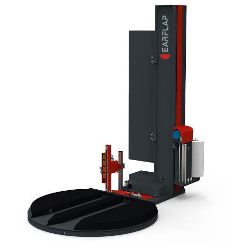 Envolvedora, enfardadora, emplayadora de plataforma giratoria con sistema de corte y pinza automático y entrada de carga manual modelo 500