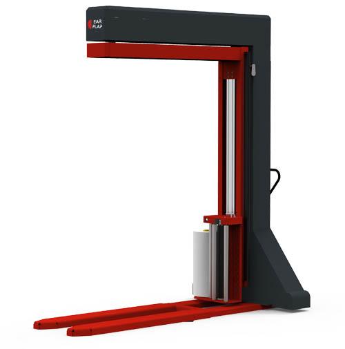 Enplayadora, enfardadora, envolvedora semiautomática móvil para cargas paletizadas con transpaleta manual modelo 800