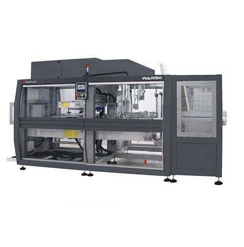Máquina de encajado y formado automático de cajas monocasco WAR150