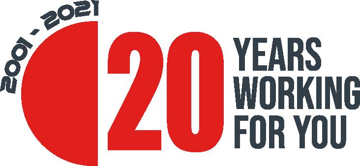 Logo 20 aniversario Ear Flap